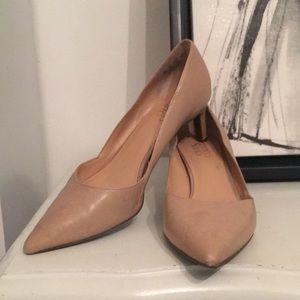 Franco Sarto low nude heels